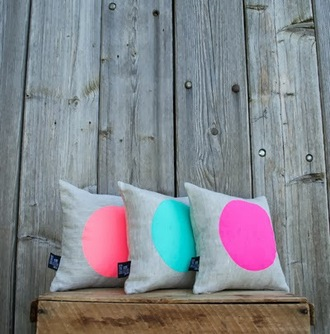 home accessory pillow neon grey accessories colorful round home decor