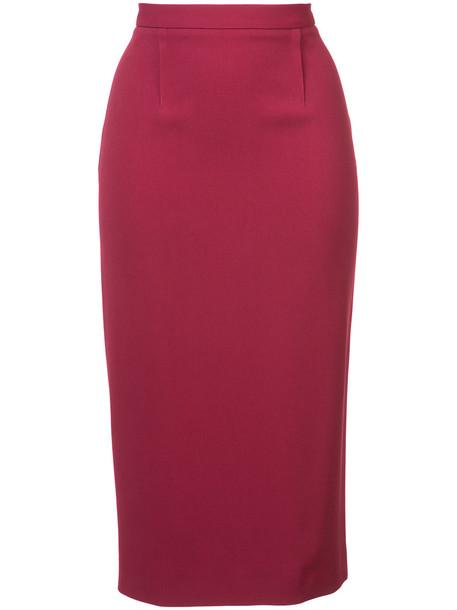 Roland Mouret high waisted Arreton skirt - Pink & Purple