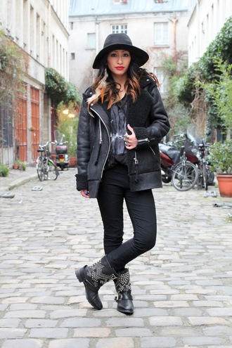 rosa pel's blog jacket coat hat shoes jeans belt