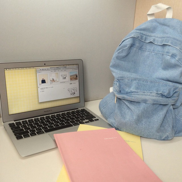 Jeans Backpack Grunge Cute Backpack Denim Backpack
