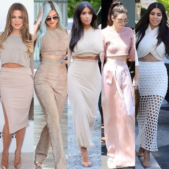 skirt maxi skirt nude nude skirt pants white white skirt kim kardashian kourtney kardashian khloe kardashian keeping up with the kardashians kardashian kollection kylie jenner kendall jenner all nude everything top