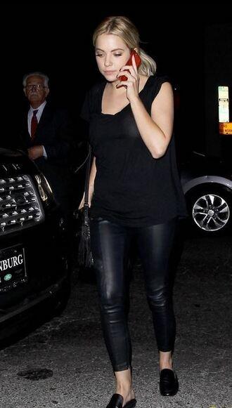 top pants ashley benson all black everything