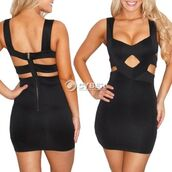 dress,clothes,open back,little black dress,cocktail dress,summer dress,black dress,cut-out dress,bodycon dress,black,cut-out,bandage dress,strappy dress,short dress,bodycon,sexy dress,jeans,sexy,cute