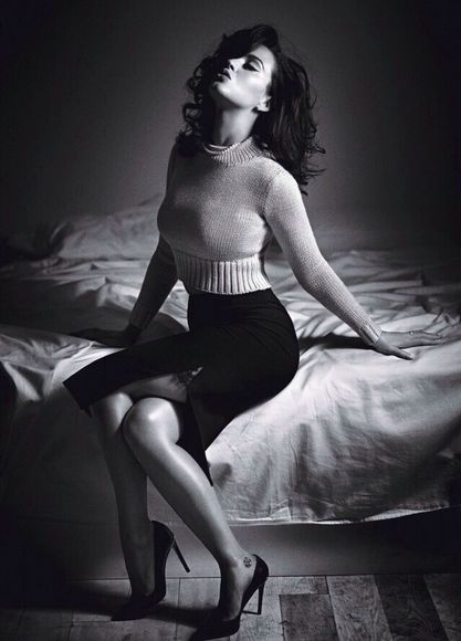 skirt shirt midi skirt black crop tops crop-tops sweater turtleneck turtleneck crop top sexy high waisted skirt