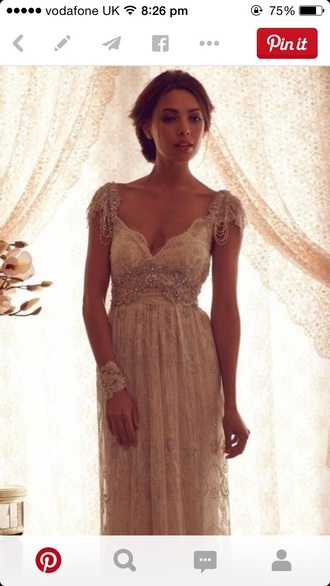 dress gown sleeve classy lace dress