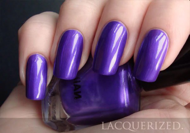 nail polish dark purple