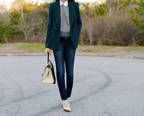 behind the seams jeans sweater jacket shoes bag t-shirt dress