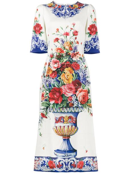 dress midi dress women midi spandex white print silk