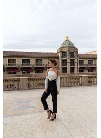 jumpsuit emma watson instagram top pants white blouse blouse