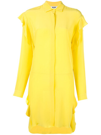 dress women silk yellow orange