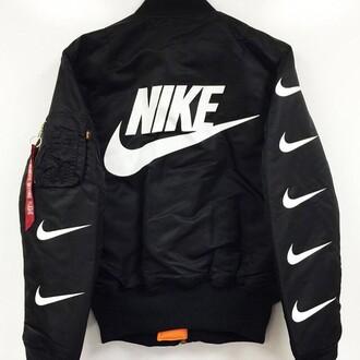 jacket black nike