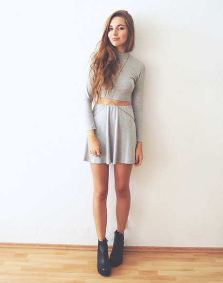 grey cruel thing blogger top crop tops