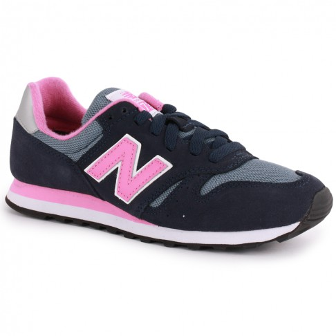 new balance 373 navy and pink trainers