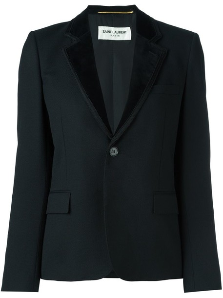 blazer women cotton black silk wool jacket