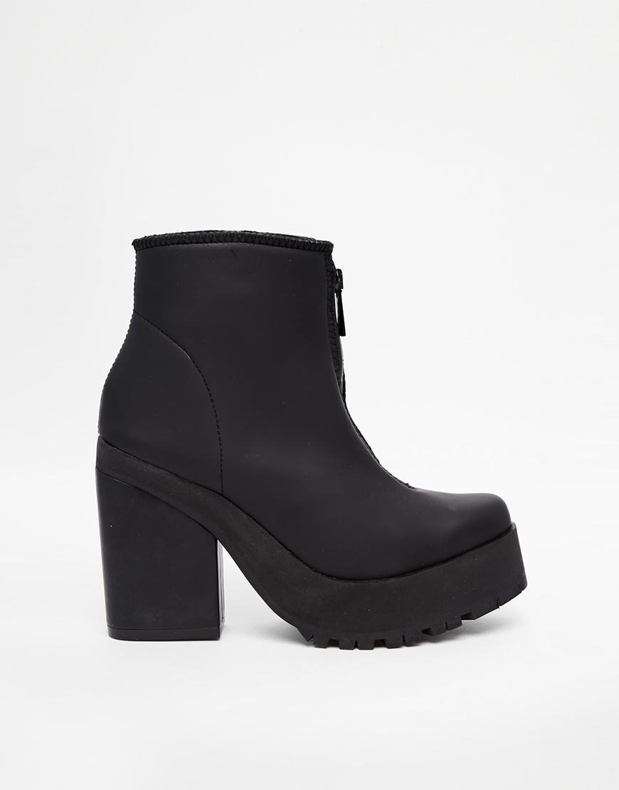 Miista Virgina Zip Front Heeled Ankle Boots at asos.com