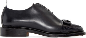 bow oxfords leather black black leather shoes