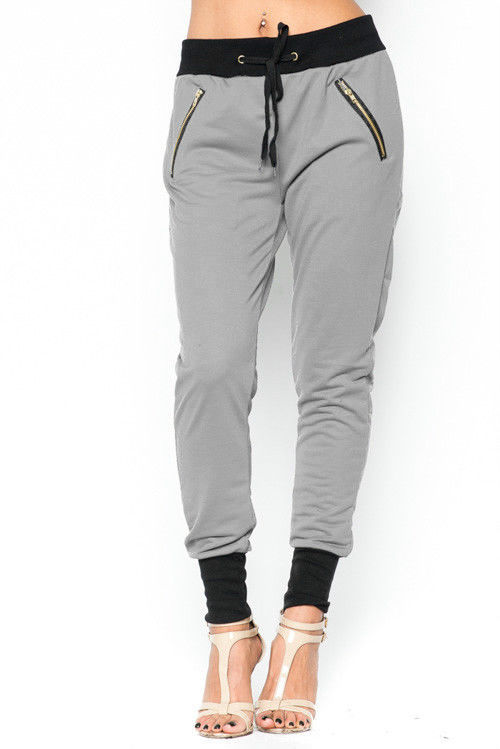Lethalbeauty ? jogger zipper drawstring ankle cuff pants