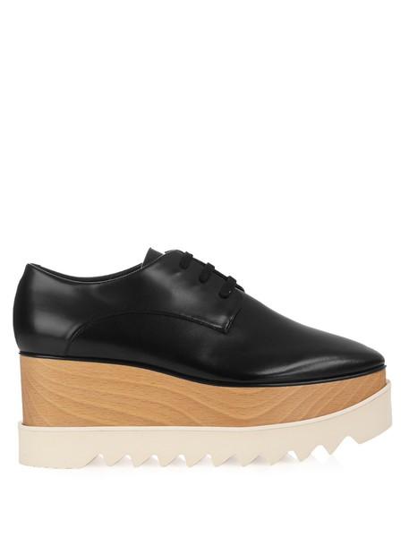 Stella McCartney shoes platform shoes lace leather black