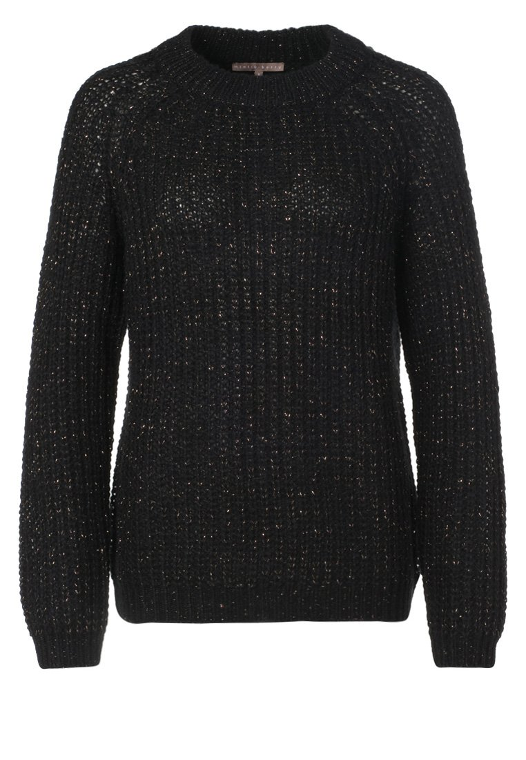 mint&berry Strickpullover - black/copper lurex - Zalando.de
