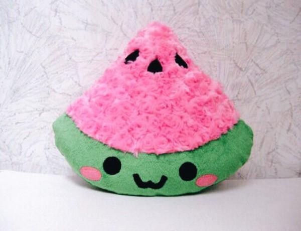 home accessory kawaii kawaii plushie kawaii accessory instagram tumblr stuffed animal cute fruits bedroom home decor pink