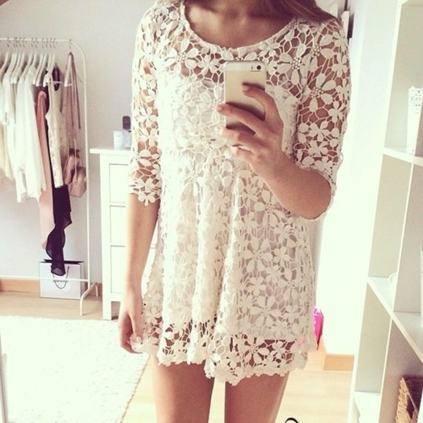 dress frees outfit outfit girly girl model pretty nice cute lace lace white vintage retro retro dress vintage dress idea ideas tumblr