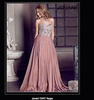 dress prom dress jovani jovani 73377 73377 taupe long prom dress