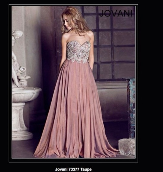 dress taupe prom dress long prom dresses jovani jovani 73377 73377 jovani prom dress jovani gown