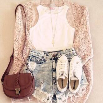 sweater pull-over shorts shoes bag shirt