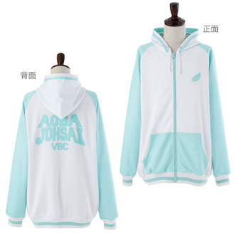 jacket haikyu haikyuu!! anime hoodie pastel