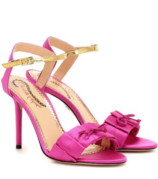 Charlotte Olympia Satin sandals in pink