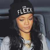on fleek,fleek,eyebrows on fleek,rih,rihanna,beanie,hat
