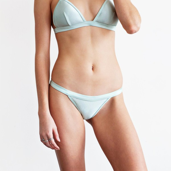 swimwear bikini bikini bottoms blue acqua acqua bikini
