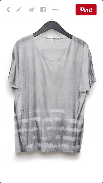 grey t-shirt grey ripped tie dye shirt