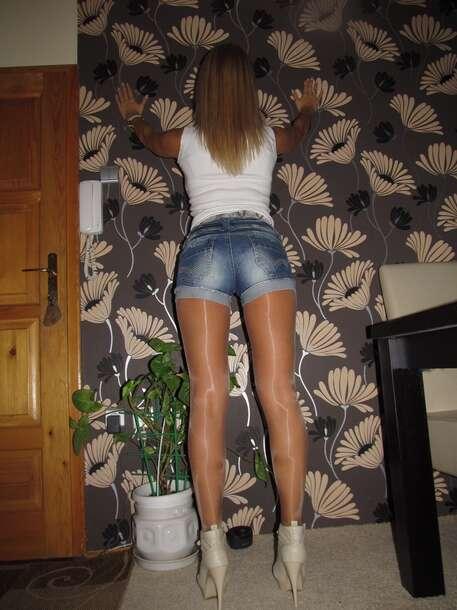 tights tan shiny pantyhose