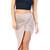 Taupe Knotted Drape Skirt | Emprada