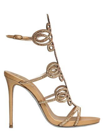 sandals satin gold shoes