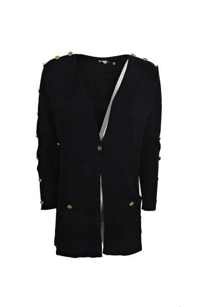 LOEWE cardigan cardigan gold black sweater