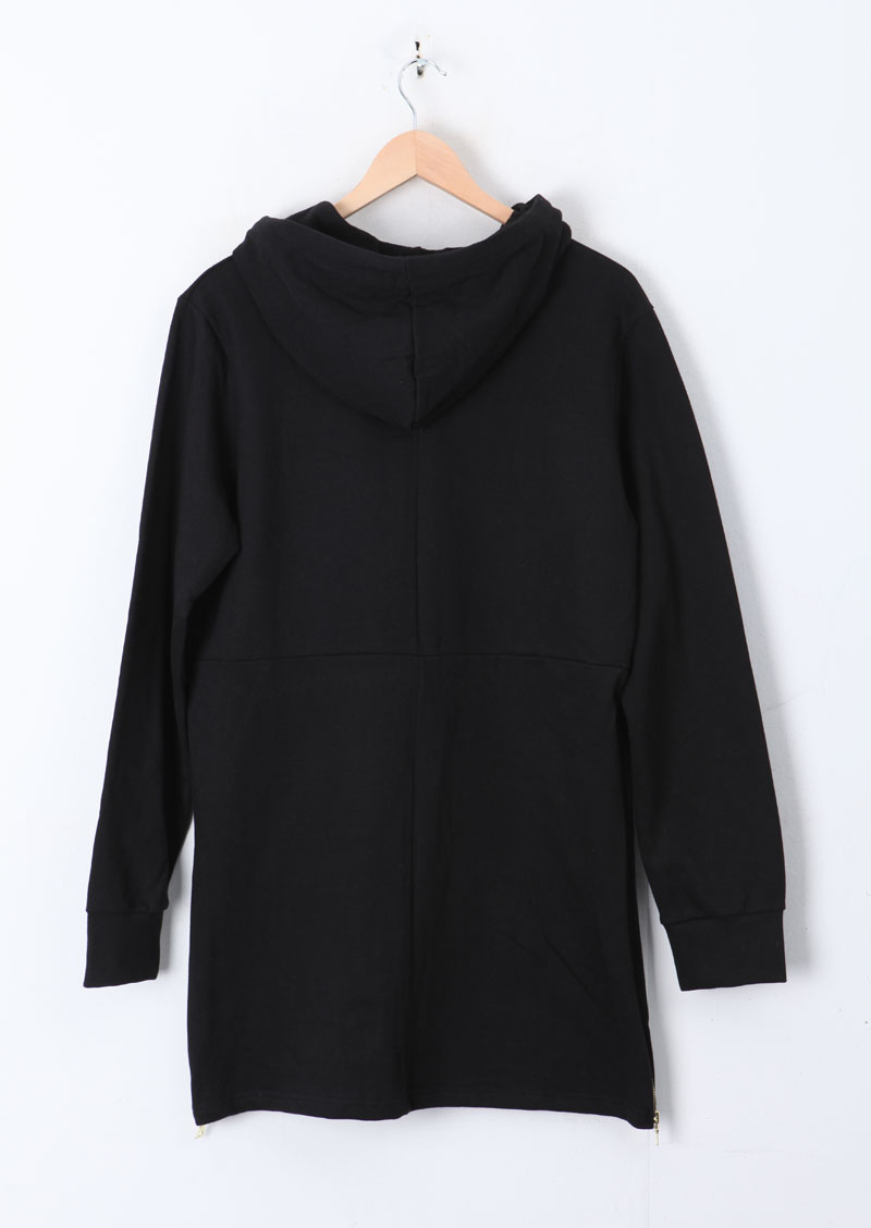 Pyrex extended side zipper unisex hoodie