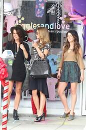 dress,90210,erin silver,black dress,jessica stroup,belt,t-shirt