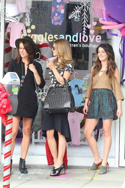 dress 90210 erin silver black dress jessica stroup belt t-shirt