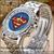 versandkosten frei 2013 förderung top neue mode berühmten marke kuh lederband uhr mann frau diamant superman
