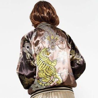 jacket zara bomber jacket dragon tiger