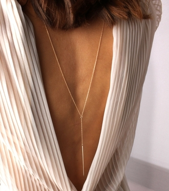 jewels blouse t-shirt shirt white sheer white blouse sheer blouse sheer white blouse backless backless shirt backless blouse tumblr instagram insta fashion stripes striped blouse striped shirt rad cool fancy um yea ... minimalist jewelry