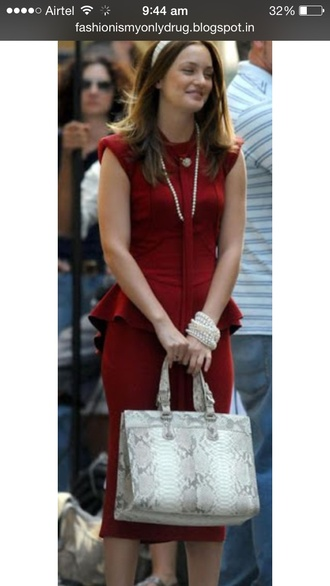 dress gossip girl bag