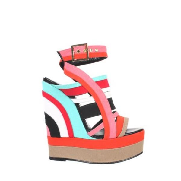 shoes colorblock color block shoes platform shoes