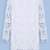 White Long Sleeve Embroidered Lace Loose Dress - Sheinside.com