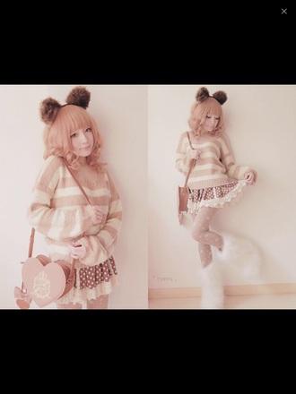 shoes kawaii cute dress boots hair accessory bag leggings shirt skirt