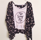 shirt,sassy,top,blouse,floral,cardigan,black,white,too sassy for you crop top,sassy cute adorable pink text hipster,tank top