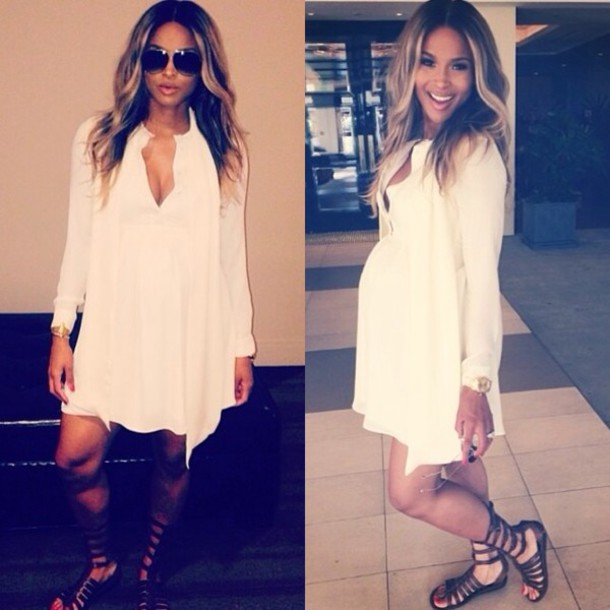 dress white dress white dress blouse mid length ciara cute dress