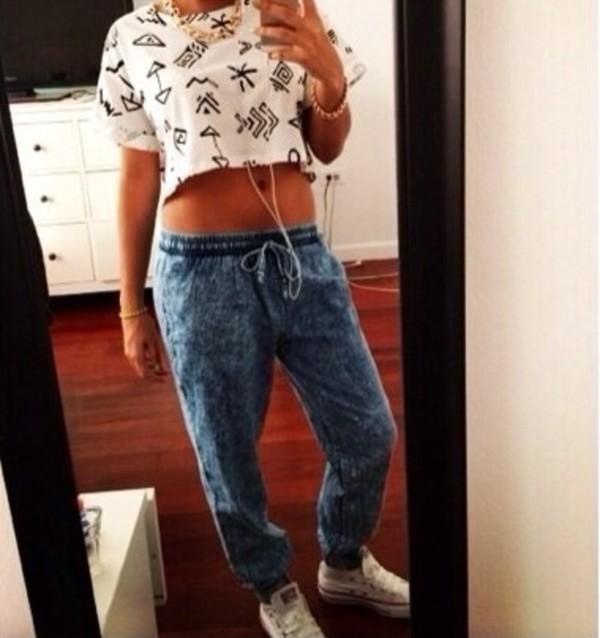 pants jeans shirt